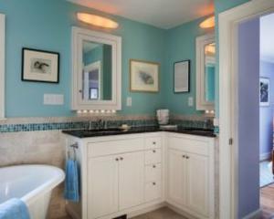 Угловая мебель для ванной